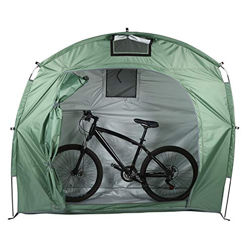 Fockety Carpa para Bicicletas al Aire Libre, Carpa para Bicicletas, Carpa para Bicicletas al Aire Libre Cobertizo para Bicicletas de Tela Oxford para Uso en el jardín Trasero(Grass Green)