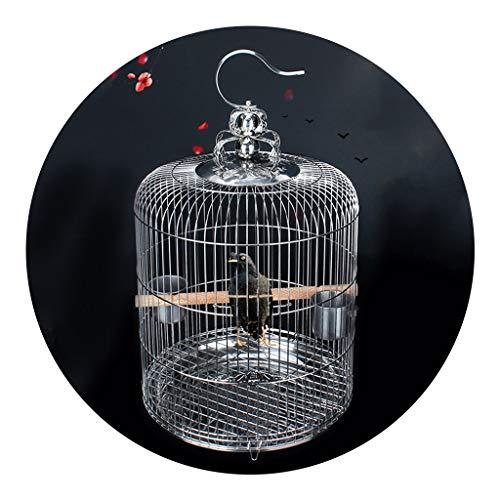 Käfige & Laufställe Hundehütten Vogelkäfig Aus Edelstahl Großer Drosselkäfig Vogelkäfig Für Den Haushalt Spezieller Vogelkäfig Edelstahlmaterial (Color : Silver, Size : 34 * 54cm)