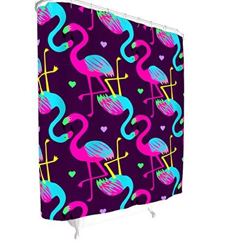 Zhcon Flamingo Patroon Bedrukte Decoratieve Douche Gordijnen voor Dorm Polyester Wasbare Badgordijnen Badkuip gordijnen