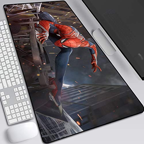 CSQHCZS-SBD muismat, Marvel Iron Man Spider-Man Extended Keyboard Desk Pad, Gaming Anime Waterdichte muismat, Antislip Rubberen voet A+++++
