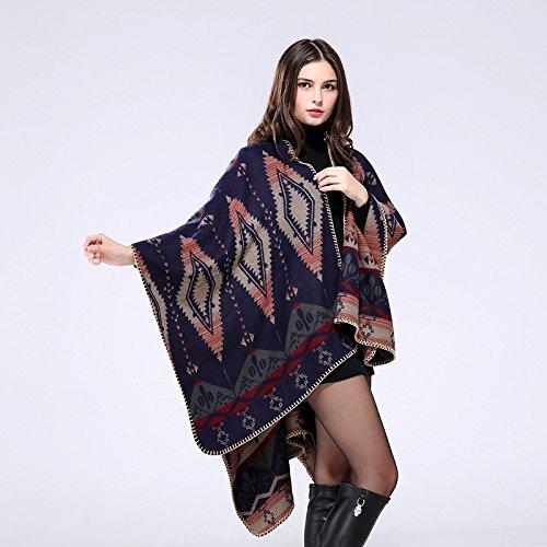 fixiyue Borde Cosido a Mano Engrosado con Aire Acondicionado extendido Bufanda de Chal de decoración cálida Azteca