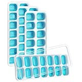 VicTsing Ice Cube Trays 4 Pack, 【Better Sealing | Easy-Release Flexible Silicone】 14-Ice