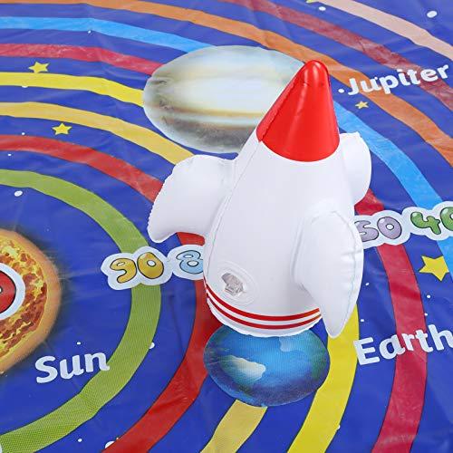 Manta de Juego de Tiro, Manta de Juego Multifuncional, Manta de Juego Inflable, Duradera y fácil de configurar para niños en el Patio Trasero