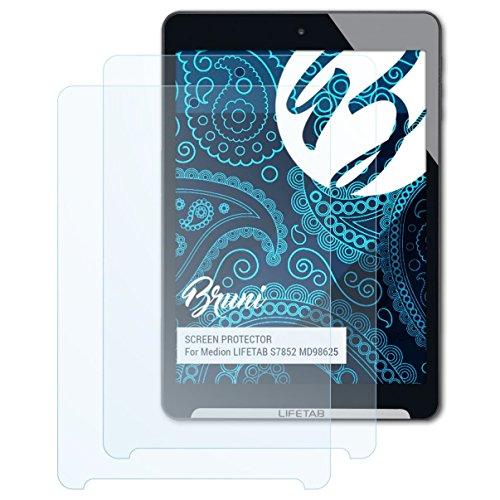 Bruni Schutzfolie kompatibel mit Medion LIFETAB S7852 MD98625 Folie, glasklare Bildschirmschutzfolie (2X)