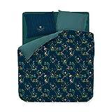 PIP Studio Ropa de cama Singerie azul oscuro funda de almohada individual 40 x 80 cm
