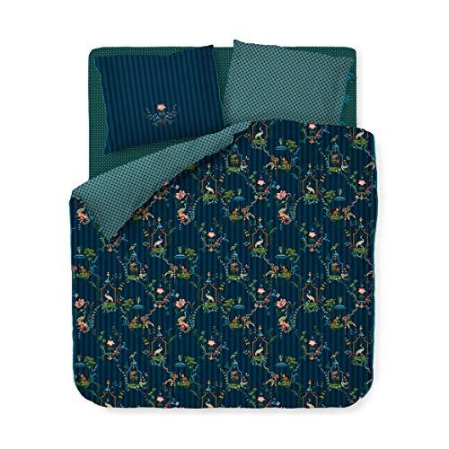 PIP Studio Bettwäsche Singerie dunkelblau Kissenbezug einzeln 40x80 cm