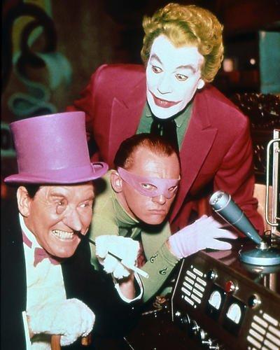 Batman 16x20 Poster great pose of villains The Joker The Riddler & Penguin Cesar Romero Frank Gorshin Burgess Meredith