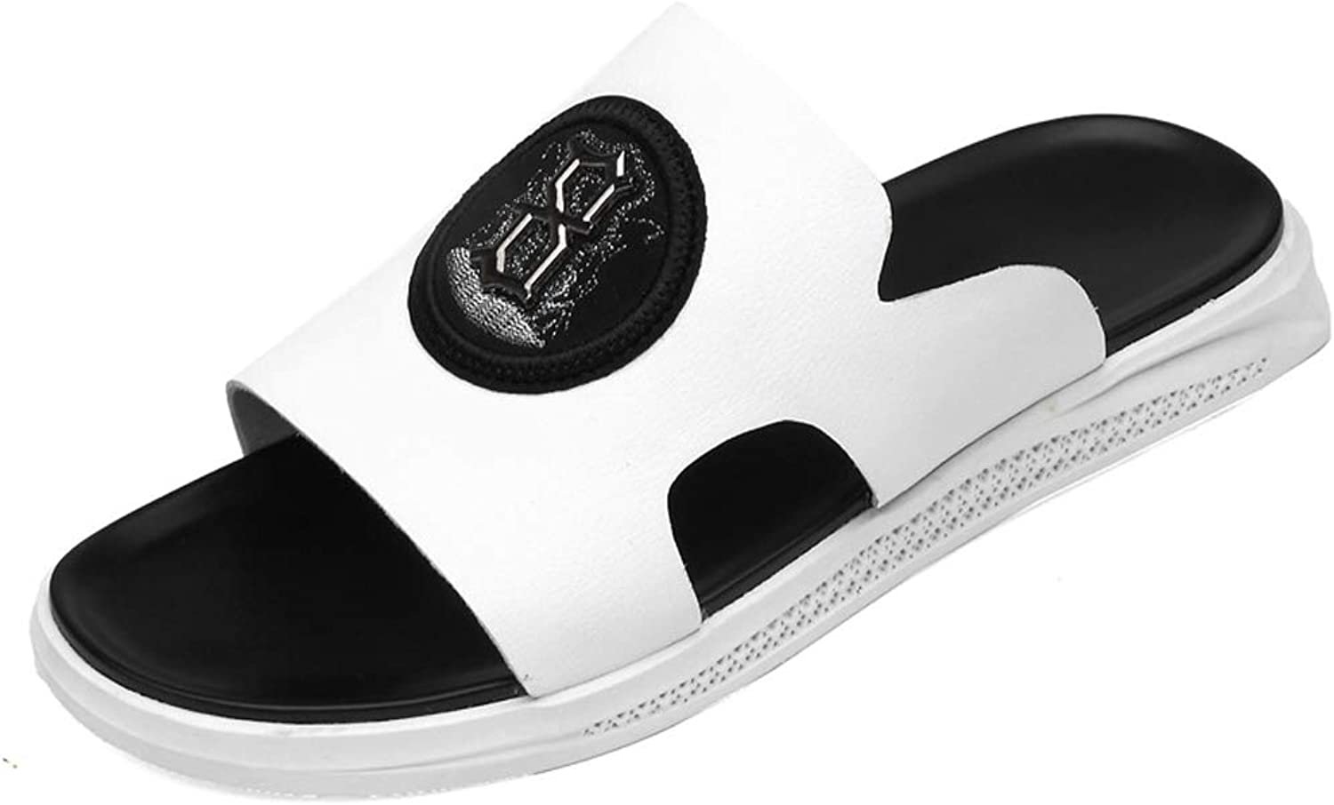 TYX-SS Summer Men'S Casual Slippers Personality Sandals Breathable Non-Slip Slippers