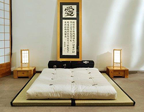 Futon Online Combinaison 2 Tatamis (80x200x5,5cm) futon en Coton (140x200x14cm)