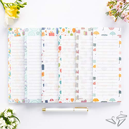 Peach Tree Shade Magnetic Notepads, 6-Pack 60 Sheets Per Pad