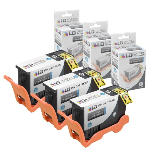 LD Compatible Ink Cartridge Replacement for Lexmark 150XL 14N1614 High Yield (Black, 3-Pack)