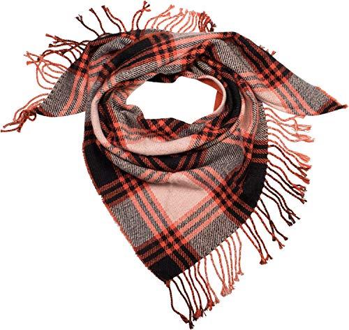 styleBREAKER pañuelo triangular de punto XXL de mujer con motivo a cuadros Príncipe de Gales, deshilachados, chal de invierno, pañuelo 01018160