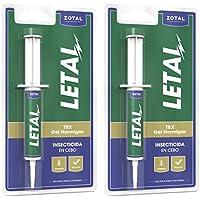 Letal TRX Gel Insecticida Hormigas - Cebo Mata Hormigas para Uso Doméstico de Zotal, Pack de 20 Gramos en Total. Elimina Colonias de Hormigas Que se Alimentan de Azúcares, Evitando su Proliferación