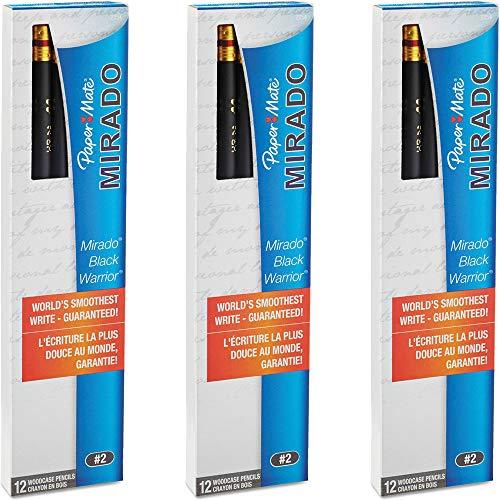 Paper Mate (2254) Mirado Black Warrior Lead Pencils, (Medium) Soft (12 Count) (3 Pack of 12)