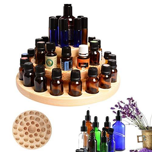 Dream-cool Aufbewahrungsbox für ätherische Öle, 39 Fächer, 3 Ebenen, Holzkoffer, Aromatherapie, Öle, Organizer