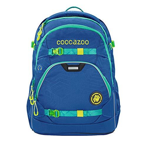coocazoo Schulrucksack ScaleRale Waveman blau, ergonomischer Tornister, höhenverstellbar mit Brustgurt und Hüftgurt für Jungen ab der 5. Klasse, 30 Liter