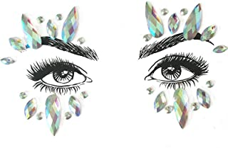 White Witch Face Jewels One Size
