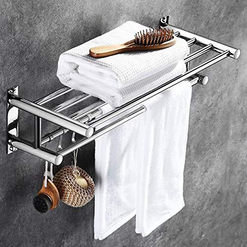 Miner RVS Badkamer Handdoekhouder Home Hotel Accessoires Hardware Set Organizer Wandmontage Handdoekenrek Nieuw, 60CM LANG