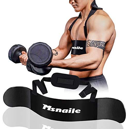 Msnaile Hochleistungs Bizeps Isolator Arm Blaster für Arm Bizeps & Trizeps Körperaufbau und Muskelkraftzuwachs,für Gewichtheben und Hanteln & Hanteln Ausgewogene Unterstützung(schwarz)