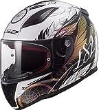 LS2 NC Casco per Moto, Hombre, Blanco/Negro/Rosa, M