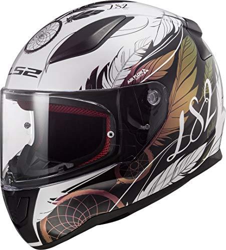 LS2 Casco moto FF353 RAPID BOHO Bianco Nero Pink, Bianco/Nero/Pink, S
