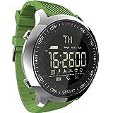 Zwbfu MK18 Intente Intente Reloj Deportivo LCD Podómetros Impermeables Mensaje Recordatorio BT Natación al Aire Libre Hombres Smartwatch Cronómetro para iOS Android