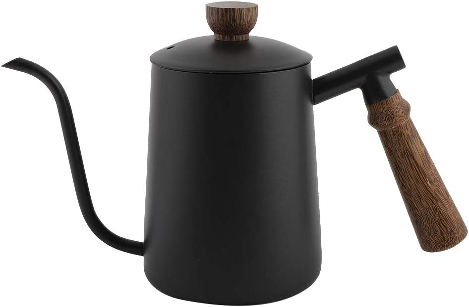 600ml Stainless Steel Gooseneck unisex Kettle Drip Pot Coffee OFFicial with Over