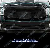 APS Compatible with Dodge Ram 1500 2013-2018 & 19-21 Classic Main Upper Black Billet Grille Insert D85986H