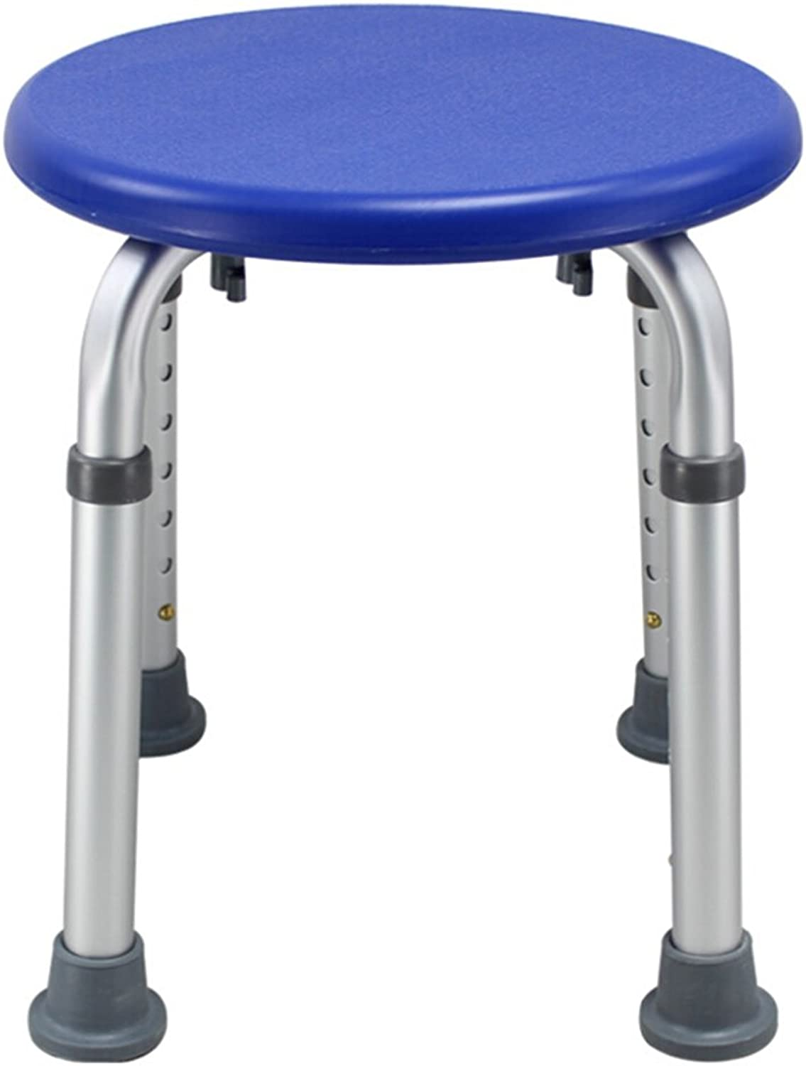 Shower Chair, Height Adjustable Does not Rust Non-Slip Light Bathroom Aluminum Alloy Bath Chair White, Green, bluee Safety Portable (color    3)