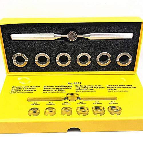 POHOVE Juego de 7 herramientas de reparación de relojeros con diferentes tamaños ranurados para comprobar el papel x relojes, kit de herramientas de precisión de mano para relojeros