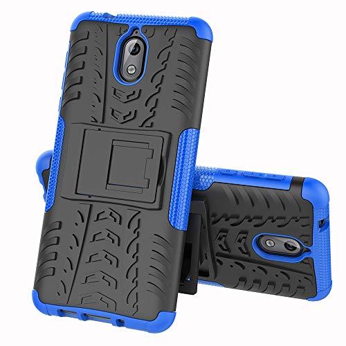 CaseExpert Nokia 3.1 Funda, Heavy Duty Silicona híbrida con Soporte Cáscara de Cubierta Protectora de…