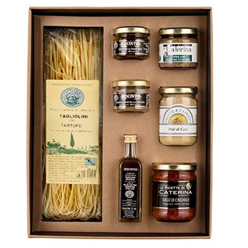 Italienisches Toskana Feinschmecker Geschenkset Chrisel mit Trüffelspezialitäten und toskanischer Feinkost Best of Toskana
