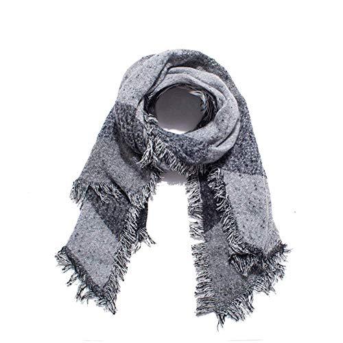 FOR TMT Schal Herbst Und Winter Schlagen Farbe Rohen Randschal Damen Dicken Karierten Schal 200 * 70Cm Weihnachts Geschenke