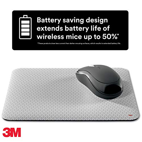 3M Precise Mouse Pad Enhances the Precision of Optical Mice at Fast Speeds and Extends the Battery Life of Wireless Mice up to Fifty Percent, Easy to Clean, Stays in Place, 9 in x 8 in (MP114-BSD1) Photo #5