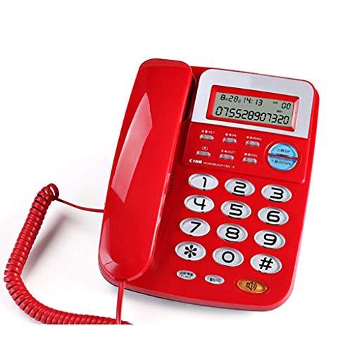 Sywlwxkq Teléfono Fijo Fijo, Oficina en casa con función de Transferencia de tecla R, 5 Niveles de Ajuste de Brillo de Pantalla.208 mm * 160 mm * 95 mm