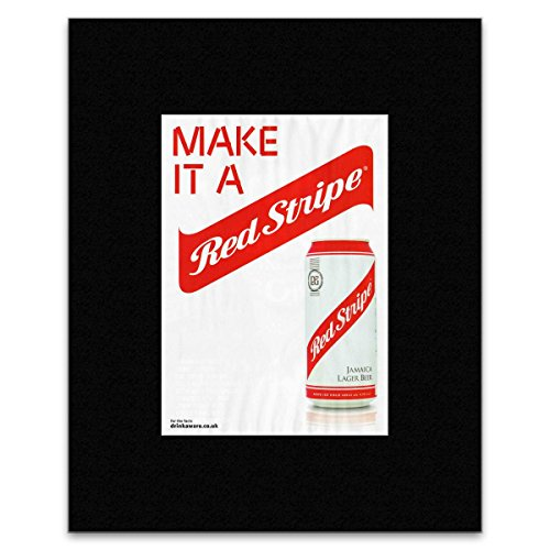 Stick It On Your Wall Jamaika, rot gestreift Lager Bier Mini Poster – 40,5 x 30,5 cm