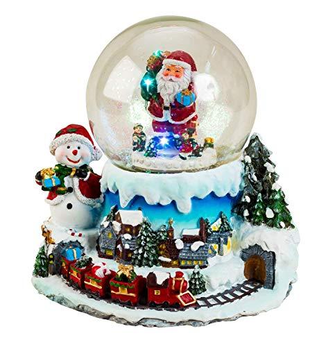 Lifestyle & More Wunderschöne LED Schneekugel Weihnachten Glitzerkugel Weihnachtsdorf mit Musik und Bewegung Höhe 19 cm Ø11 cm