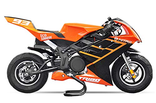 Elektro Pocketbike PS50 Tribo 1060W Kinderbike Rennbike Dirtbike Minibike Bike Pocket (Orange)