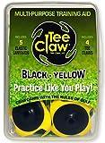 Tee Claw Golf Training Aid Kit, Artificial Turf Tee Holder and Training Aid (Black/Yellow,...