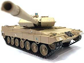 Heng Long RC Tank Remote Control 2.4Ghz 1/16 Scale German Leopard 2 A6 RC Main Battle Tank, Airsoft RC Tank, Standard Edition, Desert Color
