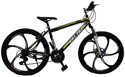 Gogo A1 Balzac Mountain Bicycle With High Carbon Steel Frame And Black 26 Magnesium Alloy Wheels,Black&Yellow