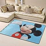 Zmacdk Alfombra cuadrada 3D de Mickey Minnie Mouse antideslizante para dormitorio infantil de 180 cm x 210 cm, 3D Mickey Minnie Mouse
