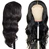 4X4 Lace Closure Wig High Density Swiss Lace Bleached Knots 100 Percent Human Hair Glueless Lace Front Wigs Human Hair For Black Women Body Wave Wig Next Day Delivery Short 14 Inch