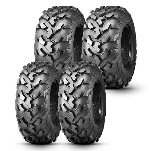 OBOR Riple ATV Tires 25x8x12 Front & 25x10x12 Rear, 6PR GNCC Champion Tire, 25x8-12 All-Terrain Radial Tire for ATV UTV SxS (4 Pack)