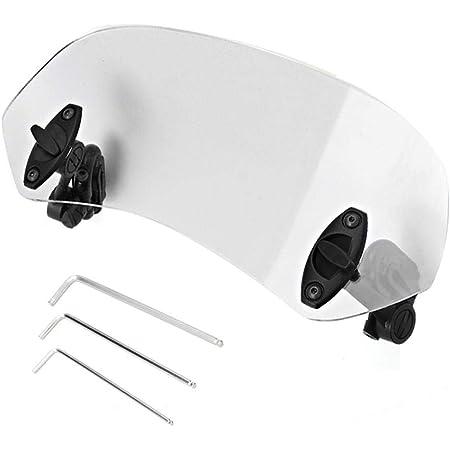 Ebtools Motorrad Universal Windschutzscheibe Verstellbarer Clip An Der Windschutzscheibe Windabweiser Windschutzscheibe Zubehör Auto