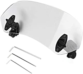 Samfox Universele clip-on voorruit, instelbare windscherm, accessoire voor de voorruit