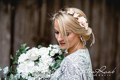 Blumenkranz Blüten Braut Frisur Hochzeit Boho C4
