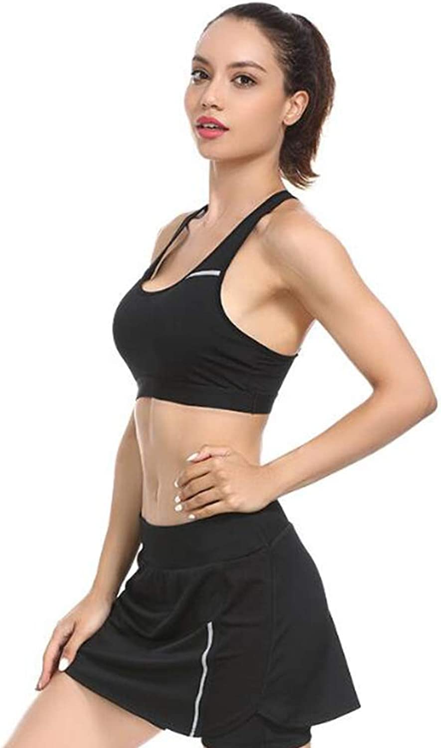 Sports Sweatshirt Sets for Women,Loose Slim Tracksuit Sweatshirt with a Short SkirtPants Casual Suit Gym Yoga Workout Running