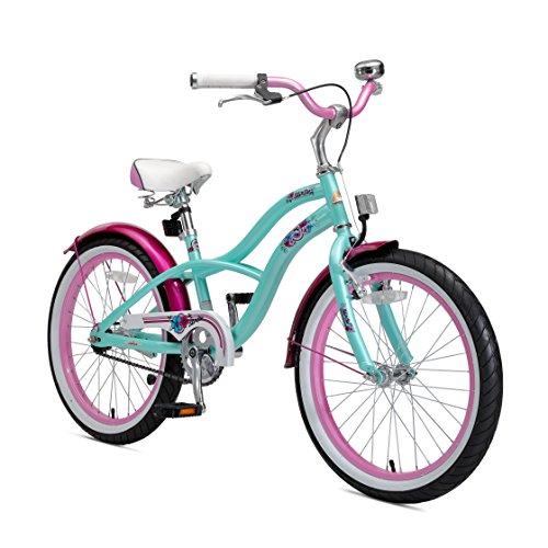 BIKESTAR Kinderfahrrad für Mädchen ab 6-7 Jahre | 20 Zoll Kinderrad Cruiser | Fahrrad für Kinder Mint | Risikofrei Testen