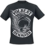 Volbeat Flying Skullwing Hombre Camiseta Negro XL, 100% algodón, Regular
